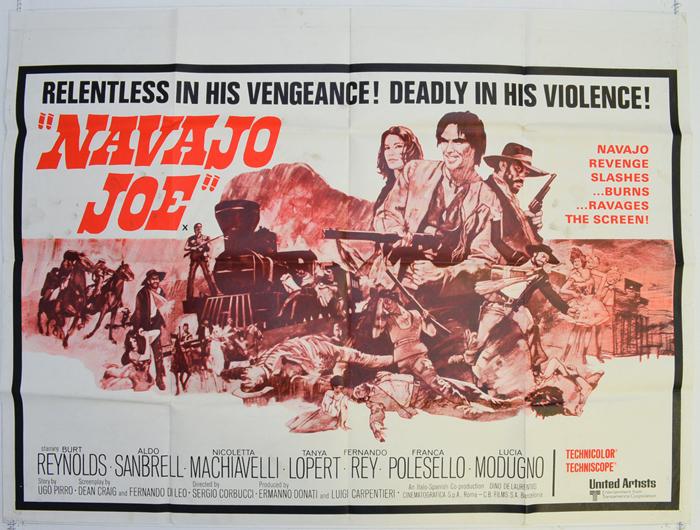 Navajo Joe Burt Reynolds vintage movie poster print