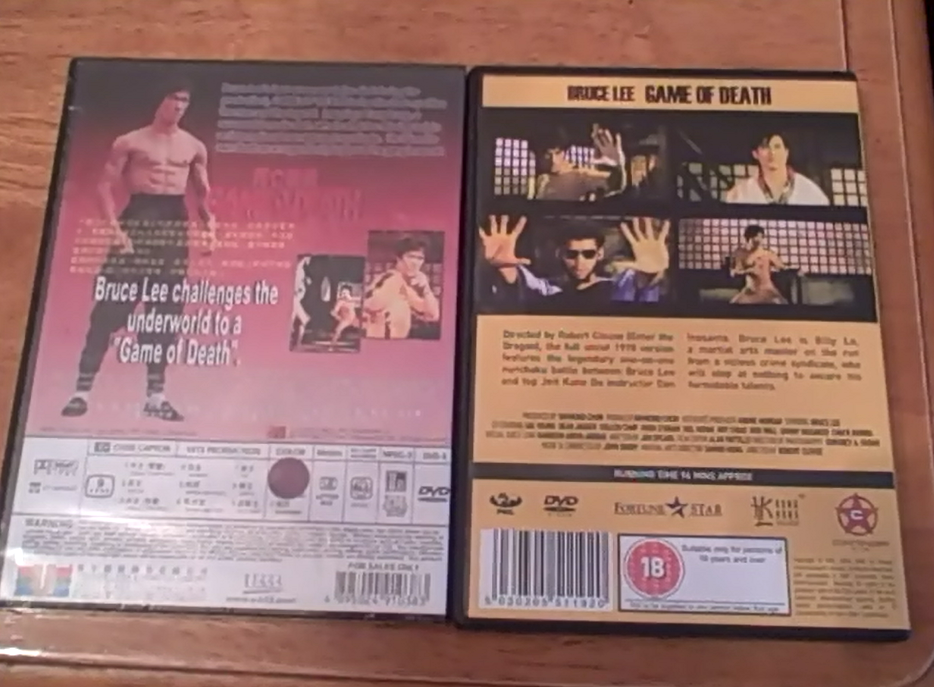 Bruce Lee Game of Death DVDs for sale/trade - The Trading